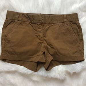 NWT J.Crew Chino Shorts - Brown - Size 6